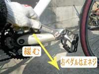 自転車のペダル交換