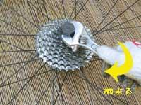自転車スプロケットの外し方
