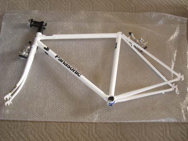 自転車の 自転車 フレームサイズ 480 : Panasonic)のクロモリフレーム ...